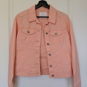 Peach stretch alternative jean jacket